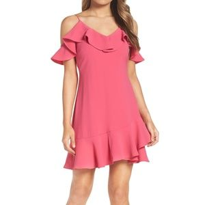BNWT Chelsea28 Ruffle Cold Shoulder Minidress